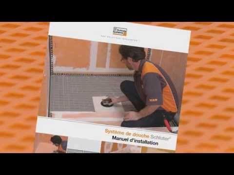 Schluter®: Type de ciment-colle à employer avec la membrane DITRA et le système de douche - YouTube