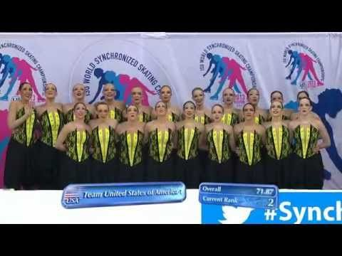 2013 World Synchronized Skating SP- Team USA 1