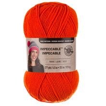 Want: Loops & Threads® Impeccable™ Yarn, Solid  - Orange Crush