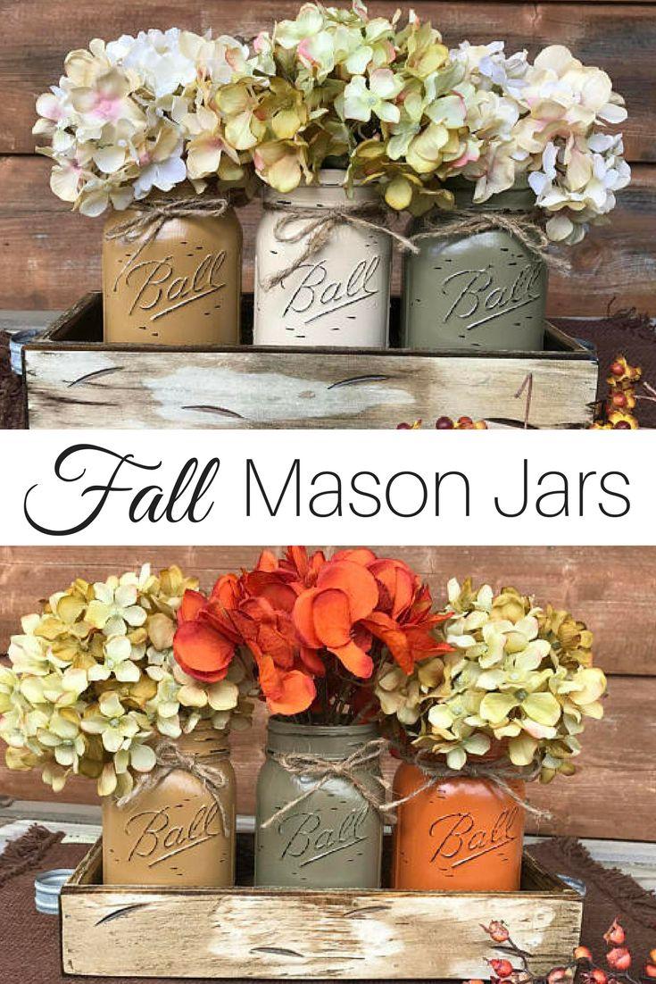 Bästa mason jar thanksgiving centerpieces idéerna på