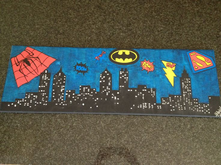 Super Hero City by Shirl, in Acrylic