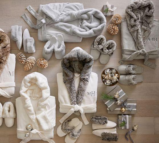 Gray Ombre Faux Fur Robe In 2020 Fur Robe Faux Fur