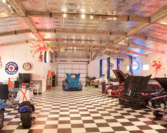 Mechanic Man Cave Ideas : Garage and shed man cave design pictures remodel decor