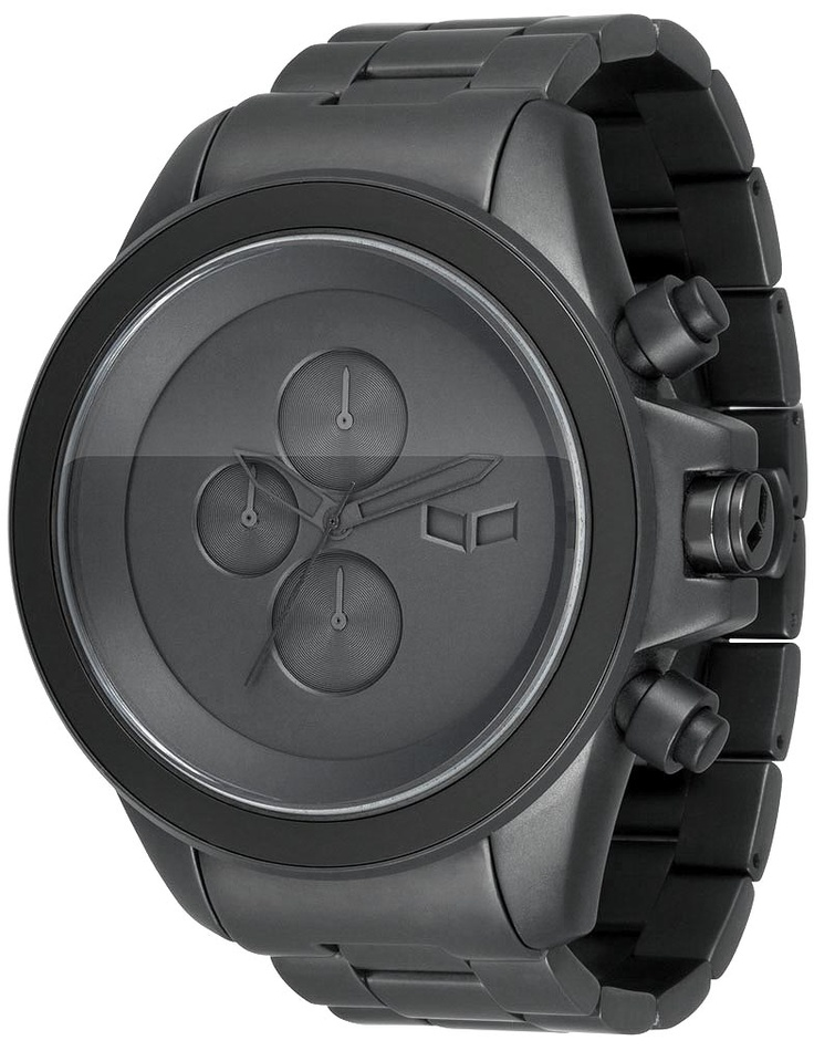 Vestal ZR3014 Watch - The Minimalist Gunmetal Chronograph from Watchismo. Love how big this watch is and the stripped down face.
