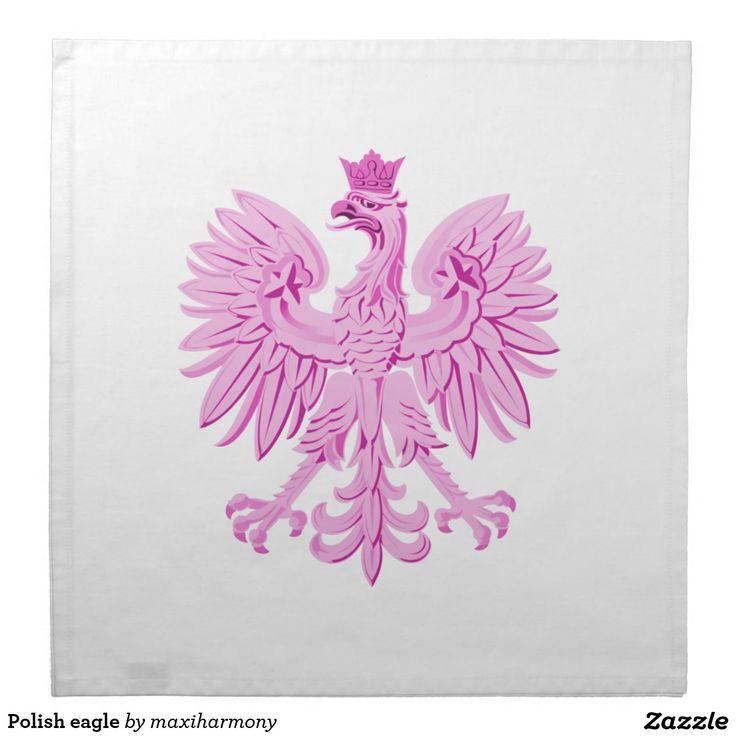 Polish eagle printed napkin