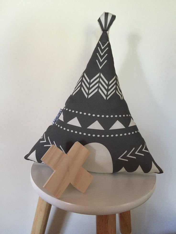 Gorgeous teepee cushion, the perfect accessory for any nursery or home decor Made from 100% cotton fabric and Eco friendly wadding insert Approx...