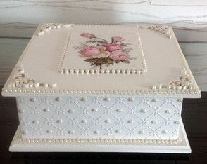Caixa decorada - Roses