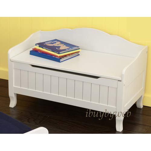 Kidkraft Kids Nantucket Toy Box Chest Bench White New