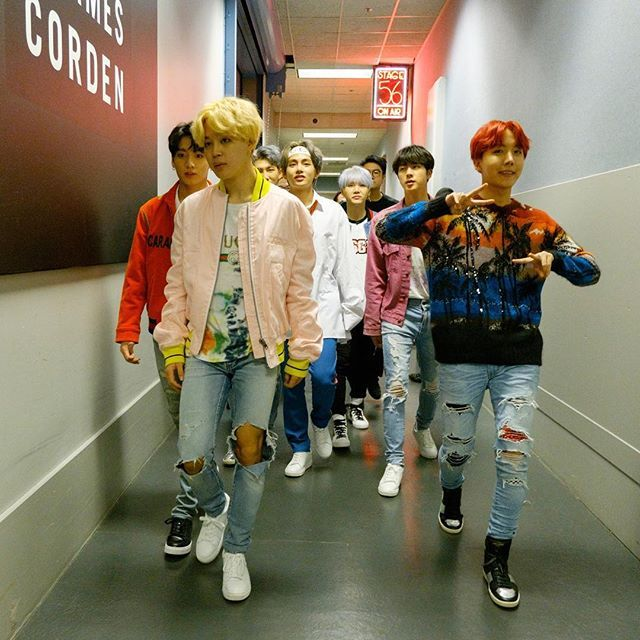 JTH  171130 Terence Patrick's Instagram Post Backstage with the phenomenal @bts.bighitofficial at @latelateshow. JTH