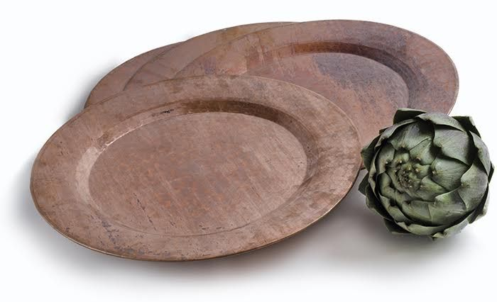 Rustic Copper Chargers will compliment a variety of color schemes and styles
