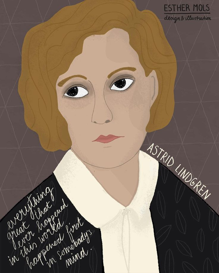 #AstridLindgren #womenhistorymonth #rebel #drawportraits ©EstherMols