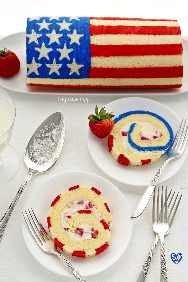 How to Make a Lemon Sponge Flag Roll Cake -SugaryWinzy