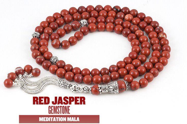 Red jasper mala. #meditation #mala #malabeads #jasper #gemstone