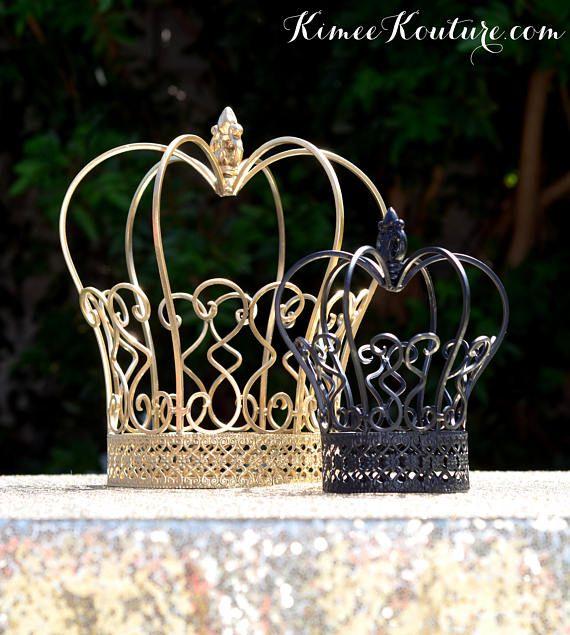 CROWN CENTERPIECE Set. DISNEY Wedding. Metal Crown Birthday