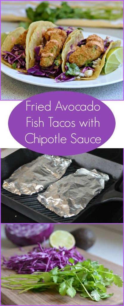 These delicious Fried Avocado Fish Tacos with Chipotle Sauce are so fresh and tasty. Even if you don't love fish, you will love these!
