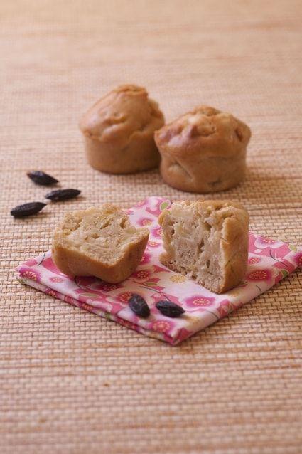 Muffins aux pommes, seigle et fève de tonka