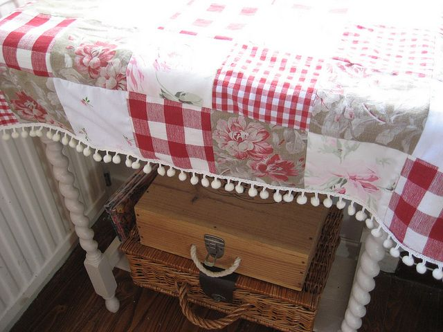 pretty patchwork table scarf: by RubyRed06 on Flickr