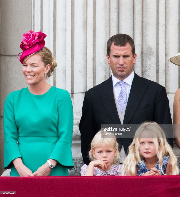 Peter Phillips, Autumn Phillips, Savannah Phillips and Isla Phillips during the annual Trooping The Colour parade on June 17, 2017 in London, England. (Photo by Samir Hussein/Samir Hussein/WireImage)
