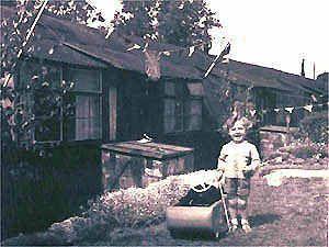 Nissen huts on Hockey Lane Estate
