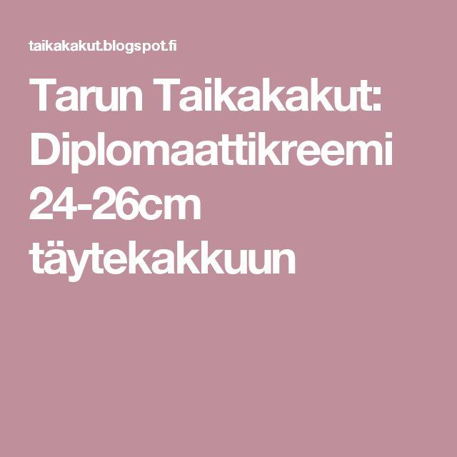 Tarun Taikakakut: Diplomaattikreemi 24-26cm täytekakkuun