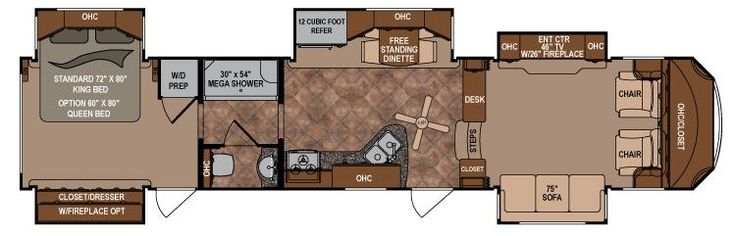 Travel Trailers and Fifth Wheels Floorplans | Infinity Fifth ...