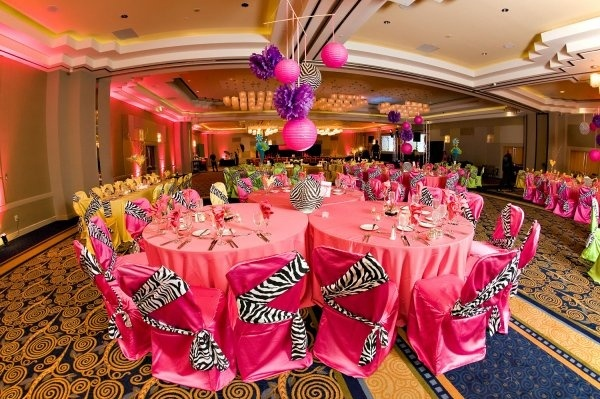 Party decorations for quinceanera girl birthdays in zebra for Animal print party decoration ideas