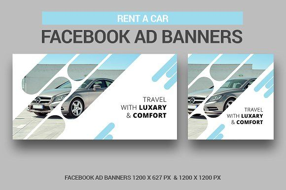 Rent A Car Facebook Ad Banners Facebook Ads Design Banner Ads