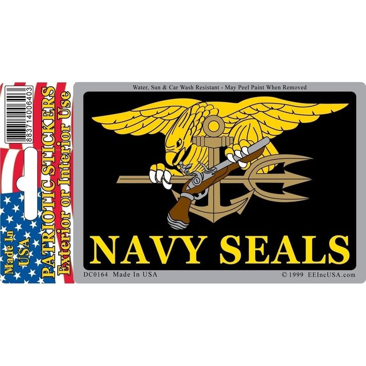 US Navy Seal Trident Patriotic Car Decal 3 by 4 Inches