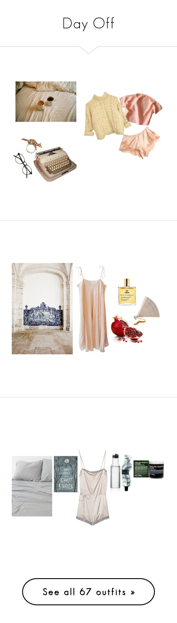 """""""Day Off"""" by yanghaizi ❤ liked on Polyvore featuring N'Est Pas, Carine Gilson, By Emily, Mes Demoiselles..., Nuxe, Pier 1 Imports, Noodle, Menu, Aesop and STELLA McCARTNEY"""