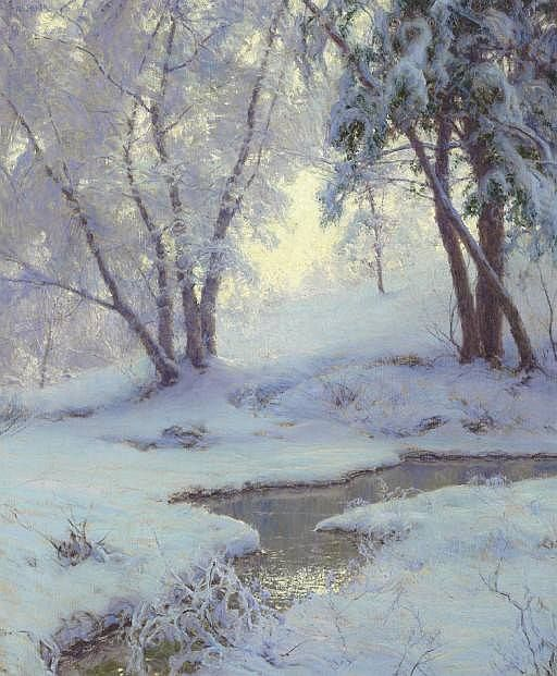 Painting by Walter Launt Palmer, 1854-1932