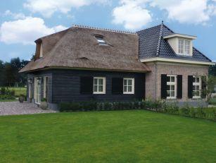 Oud/nieuw huis met potdeksel planken