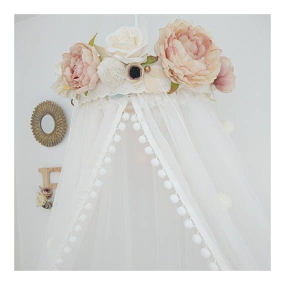 Cama dosel melocot n y rubor rosa custom a pedido hacer - Como hacer un pabellon para cama ...