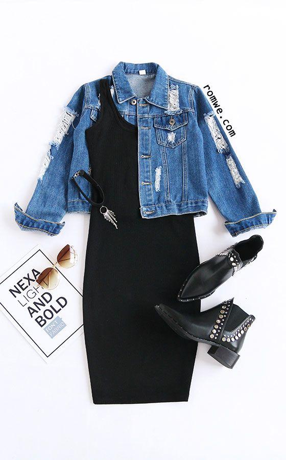 Black Scoop Neck Sleeveless Tank Dress Season: Spring Type: Tank Pattern Type: Plain Color: Black Dresses Length: Knee Length Style: Casual Material: Polyester Neckline: Scoop Neck Silhouette: Bodycon