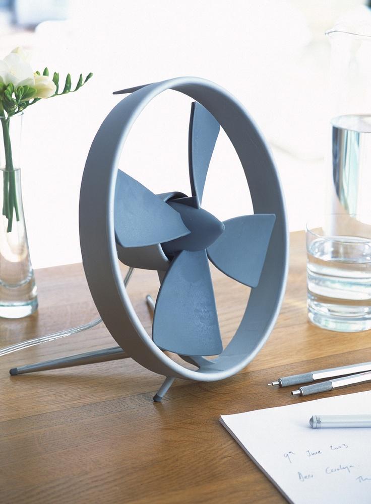 Black Blum Propello Desk Fan Has Soft Rubber Blades
