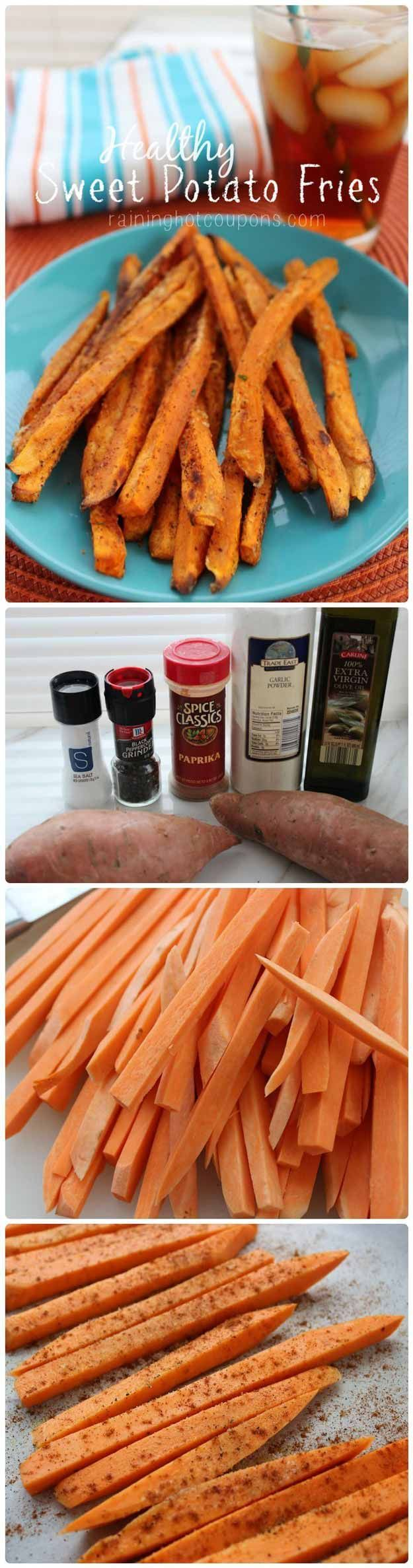 Sweet Potato Fries | Super Yummy and Healthy Homemade Recipes by Pioneer Settler at http://pioneersettler.com/sweet-potato-recipes-homesteader/