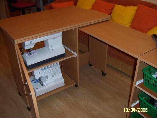 Швейный стол комфорт 5+ (c доп. поверхностью для раскроя) se.