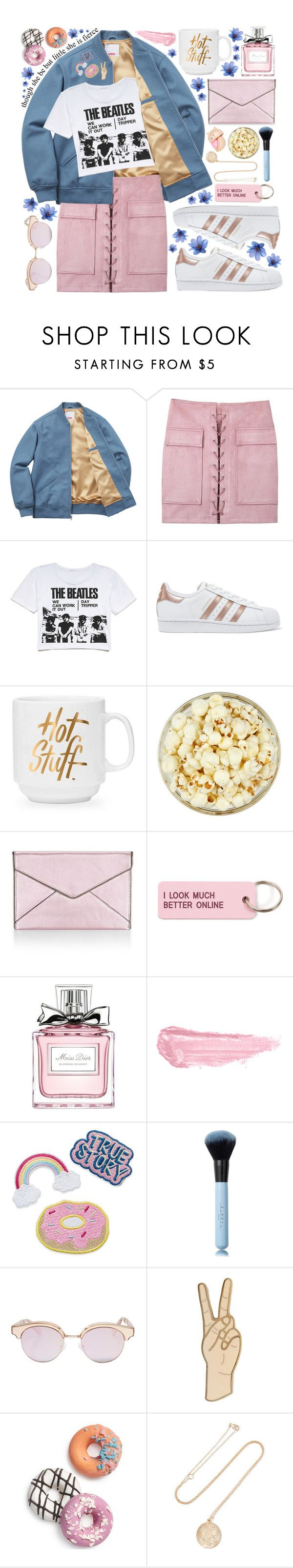 """""""1O5. I wish you could live every day the same way twice"""" by misspyromaniac ❤ liked on Polyvore featuring Retrò, adidas Originals, Rebecca Minkoff, Various Projects, Christian Dior, By Terry, Le Specs, Lucky Brand, Celebrate Shop and BROOKE GREGSON"""