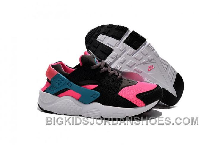http://www.bigkidsjordanshoes.com/nike-air-huarache-kids-black-pink-for-sale.html NIKE AIR HUARACHE KIDS BLACK PINK FOR SALE Only $70.81 , Free Shipping!