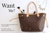 Louis Vuitton Neverfull Giveaway  Open to: United States Canada Other Location Ending on: 04/14/2017 Enter for a chance to win a brand-new Neverfull an iconic piece from Louis Vuitton worth $1250. Enter this Giveaway at The Collectory  Enter the Louis Vuitton Neverfull Giveaway on Giveaway Promote.