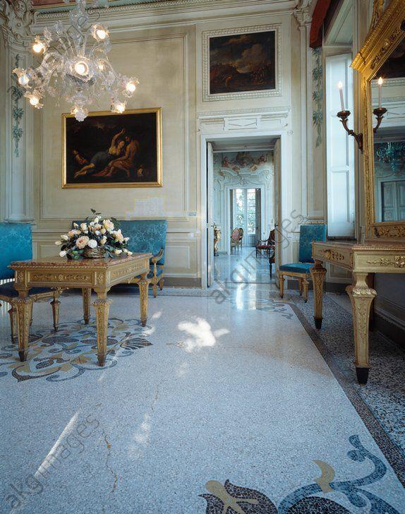 AKG-imágenes -Detail of a living room, Villa Durazzo, Santa Margherita Ligure.