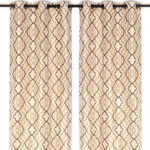 Marrakech Tan Curtain Panel Set, 96 in.