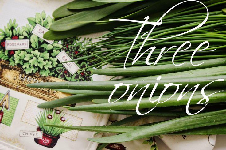 Салат из трех видов лука