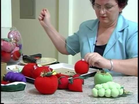 Abóbora feita em tecido para aplique - Como fazer ? - YouTube