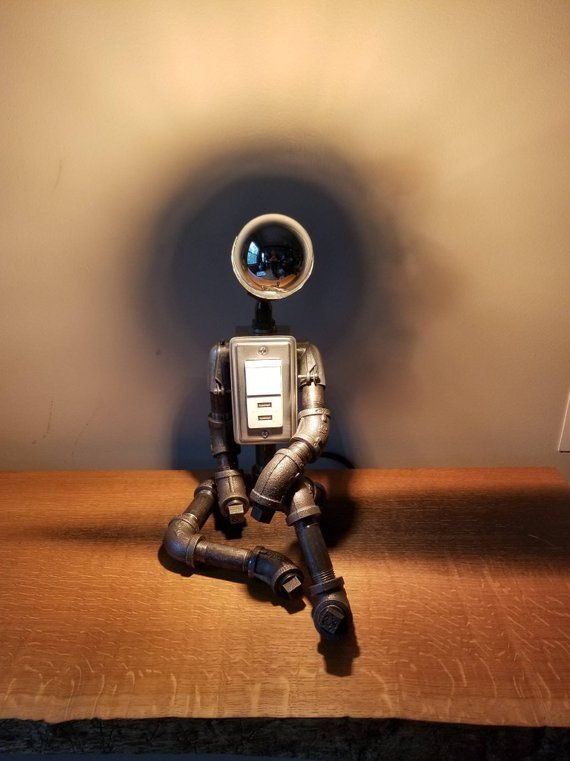 The Day Dreamer Industrial Robot Lamp With 2 Usb Ports Robot Lamp Lamp Industrial Robots