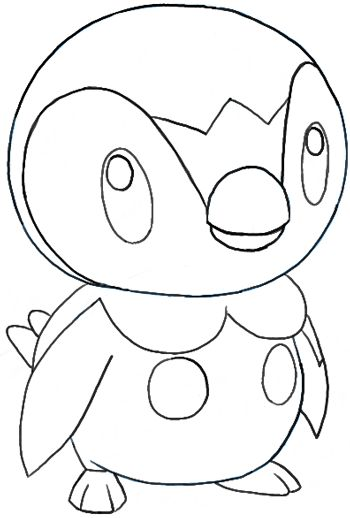 Pokemon Coloring Pages Piplup Ciut