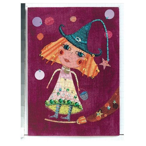 Djeco Stitching Cards Witches