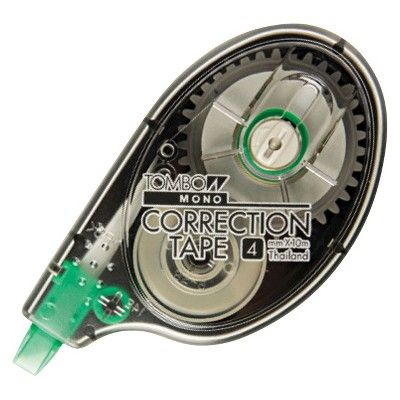 Tombow Mono Correction Tape - White (10 Per Pack), Grey/White/Clear