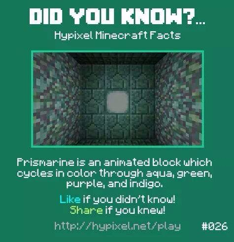 Minecraft did you know! #026