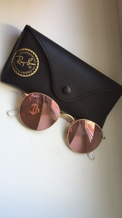Ray ban Round metal flash lenses Gold The sunglasses were hardly worn. Original price: 159,00 € #ray_ban # sunglasses …