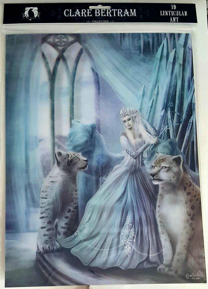 Brand New Licensed 3D Lenticular Art Clare Bertram The Snow Queen Angel Print